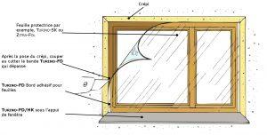 Anleitung zum Abkleben eines Fensters